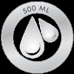 500 ml water