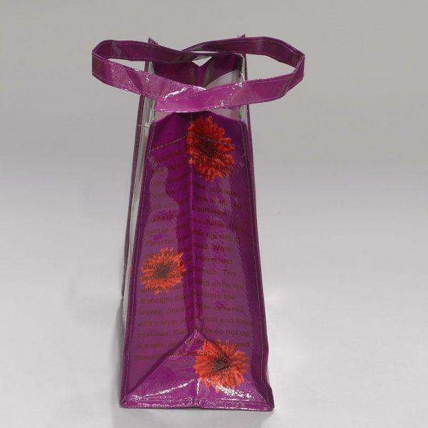 tas met dahlia zijkant