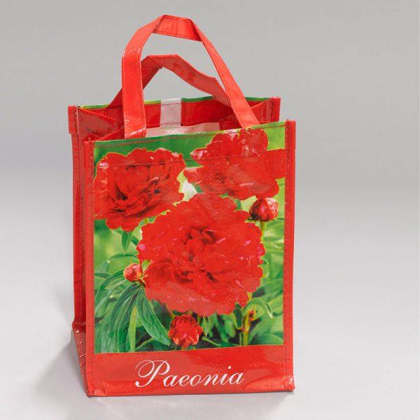 tas met pioenroos rood