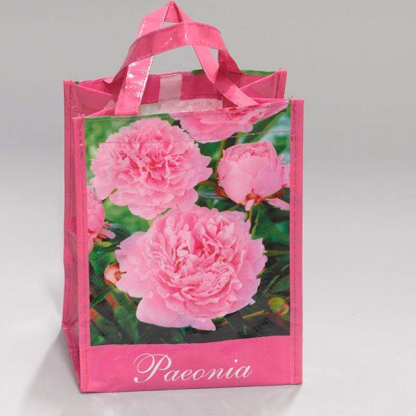 tas met pioenroos roze