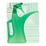 gieter en plantenspuit groen