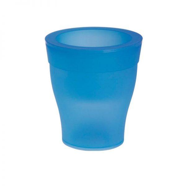 bloempot met led blauw