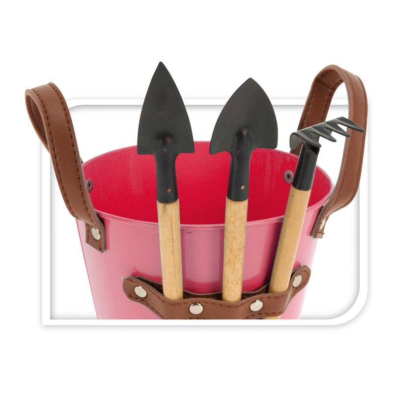 metalen emmer roze