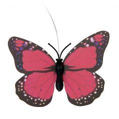 solar vlinder roze