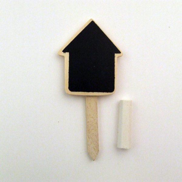 mini krijtbord huis met krijt