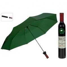paraplu in wijnflesverpakking groen