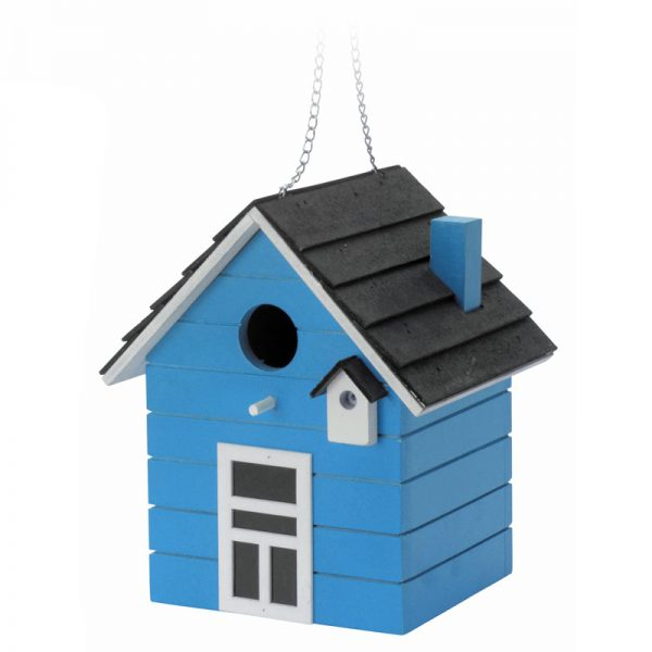 vogelhuis hout blauw