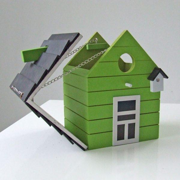 vogelhuis hout groen open