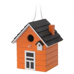 vogelhuis hout oranje