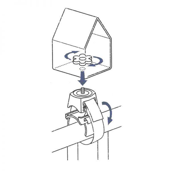 bevestigingshouder balkon regenpijp instructie