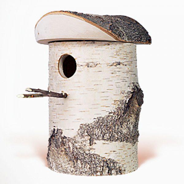 vogelhuis van berkenhout groot