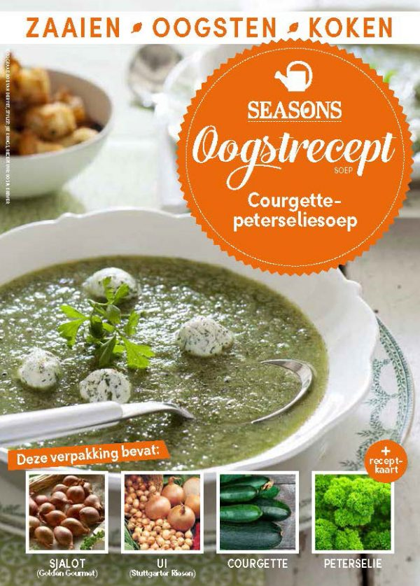 seasons oogstrecept courgettesoep met peterselie