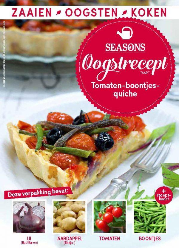 seasons oogstrecept Tomaten quiche met boontjes