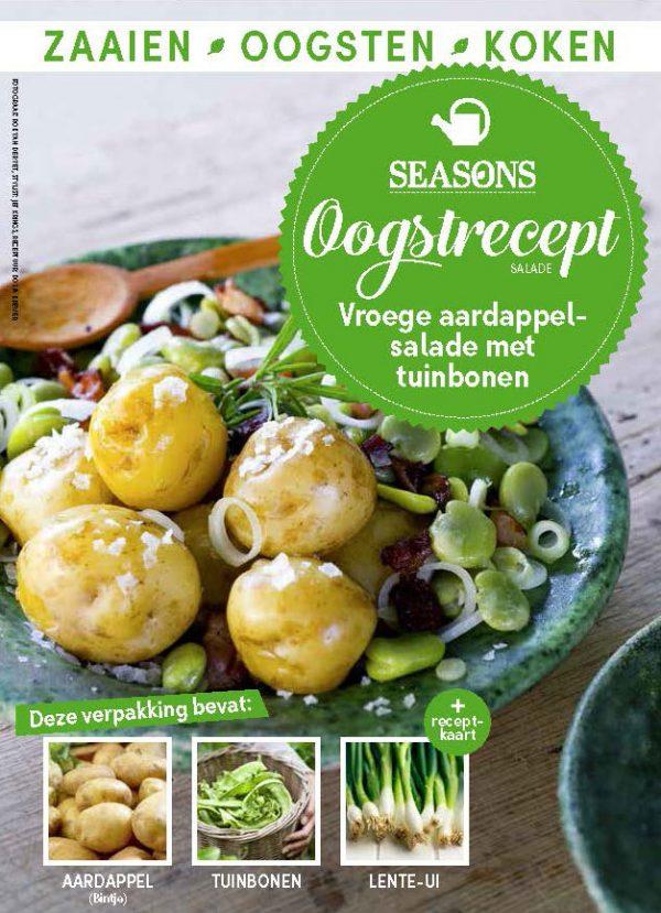 seasons oogstrecept aardappelsalade met tuinbonen