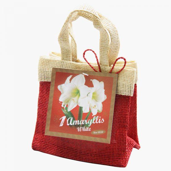 Witte Amaryllis Christmas Range Santa Bag