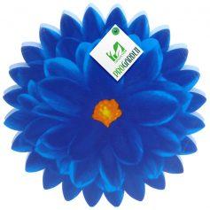 kniemat in bloemvorm blauw