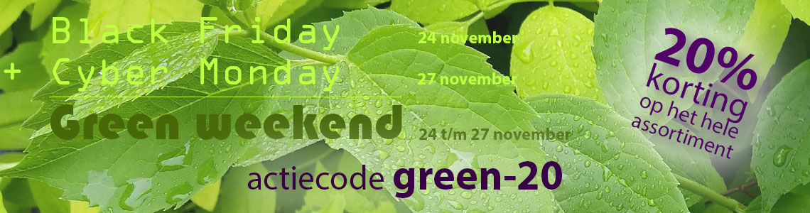 Black Friday en Cyber Monday zijn Green Weekend