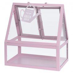kweekkas metaal roze